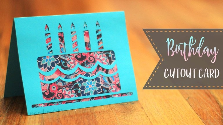 how to make a birthday cake cutout card patterns