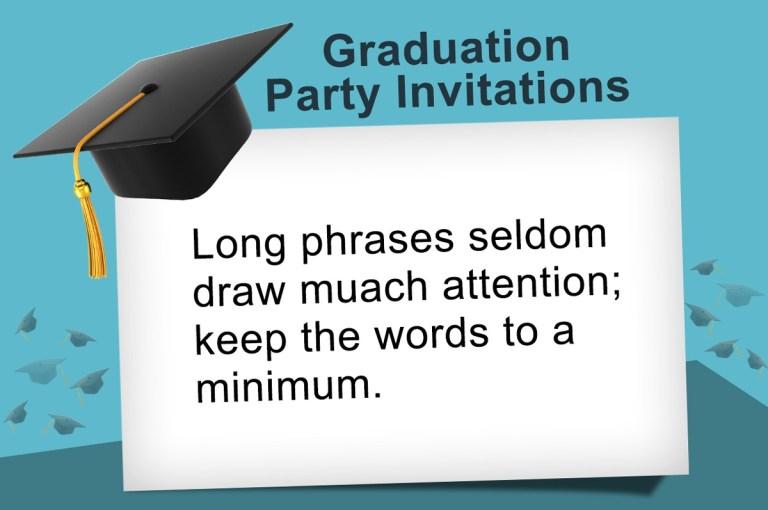 ideas to write the most pleasing graduation invitation