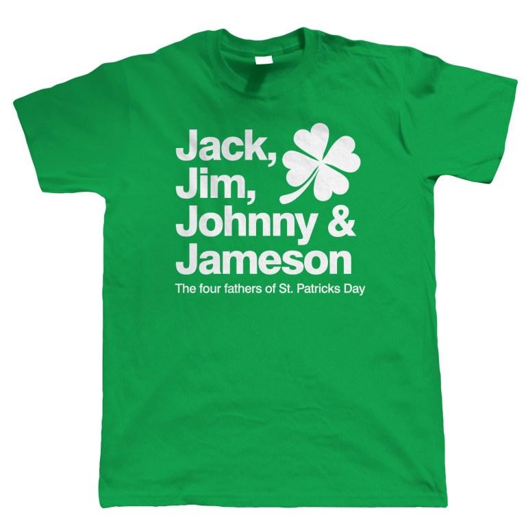 jack jim johhny jameson mens funny st patricks day t shirt