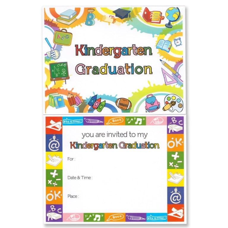 kindergarten graduation announcement