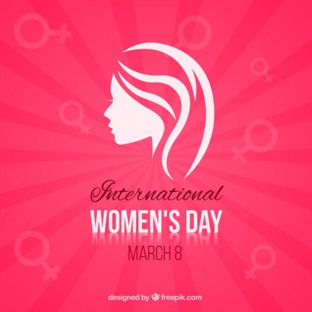minimalist womens day card free vector