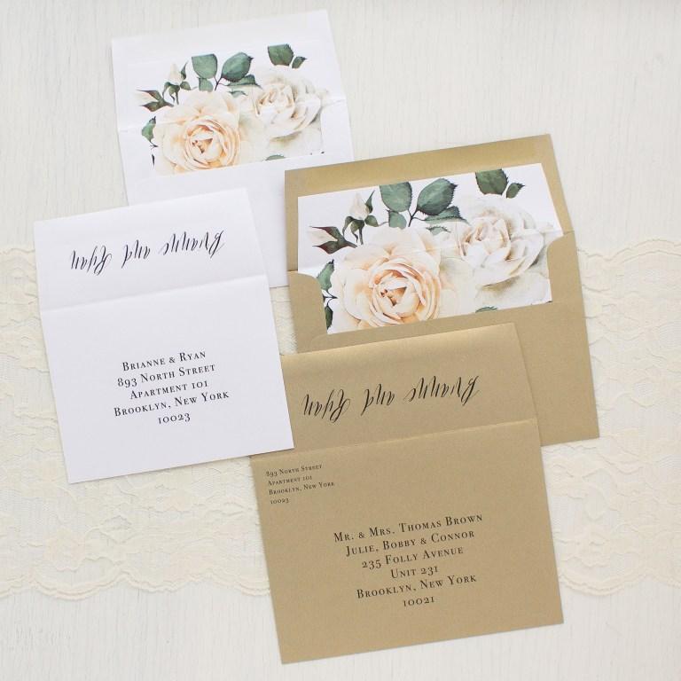 modern calligraphy wedding invitations beacon lane