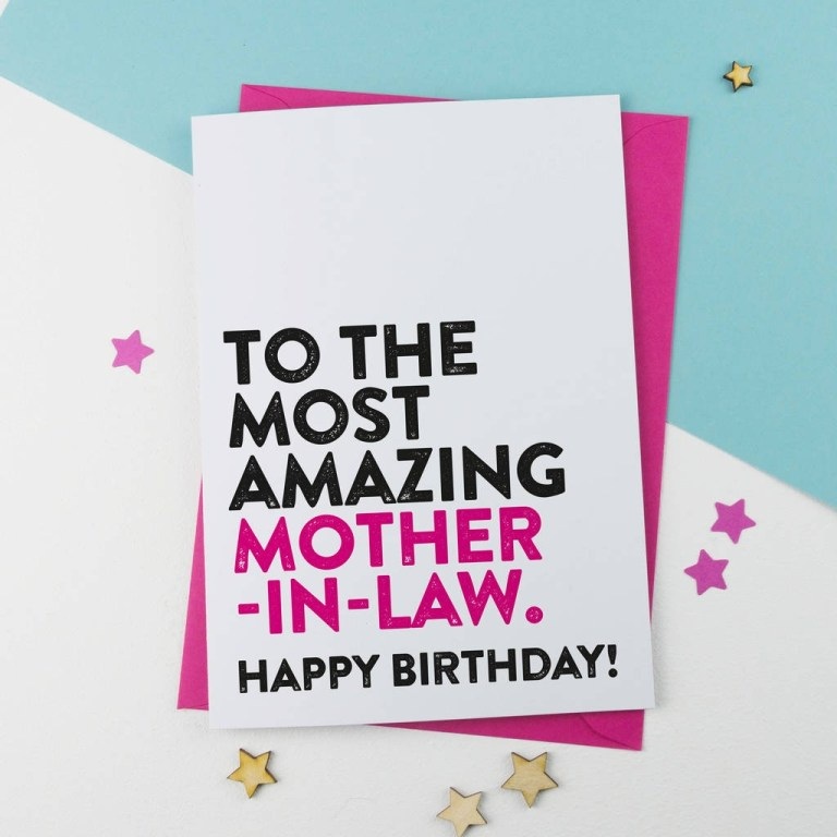 most amazing mother in law birthday card