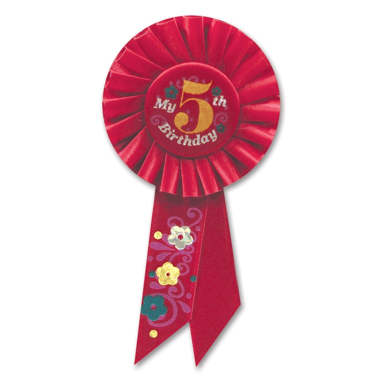 my 5th birthday ribbon webhats