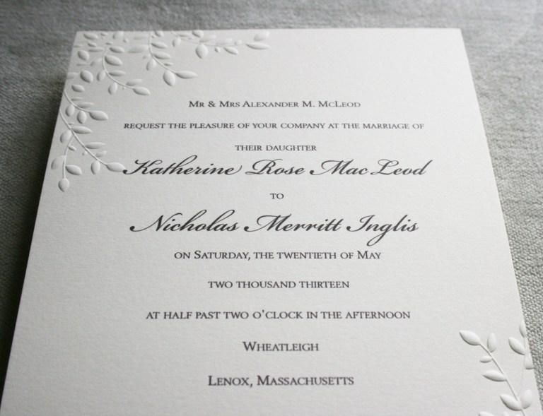 nice embossed wedding invitations steven wayne productions