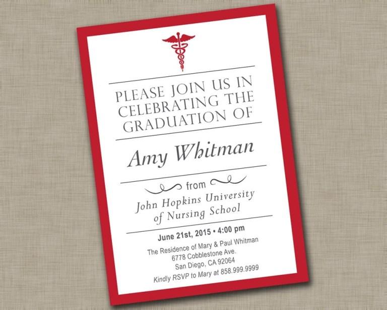 nurse graduation party invitations mickey mouse