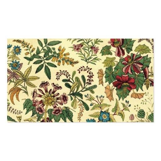 old fashioned floral abundance business card zazzle