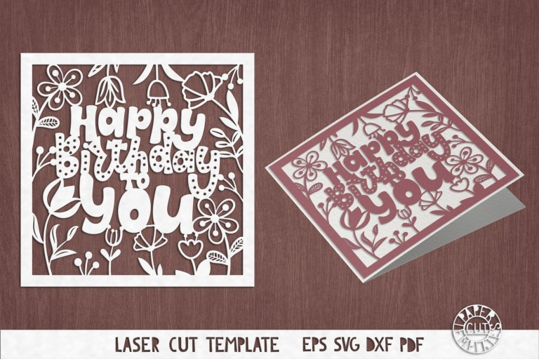 svg birthday card cut file for cricut silhouette cameo