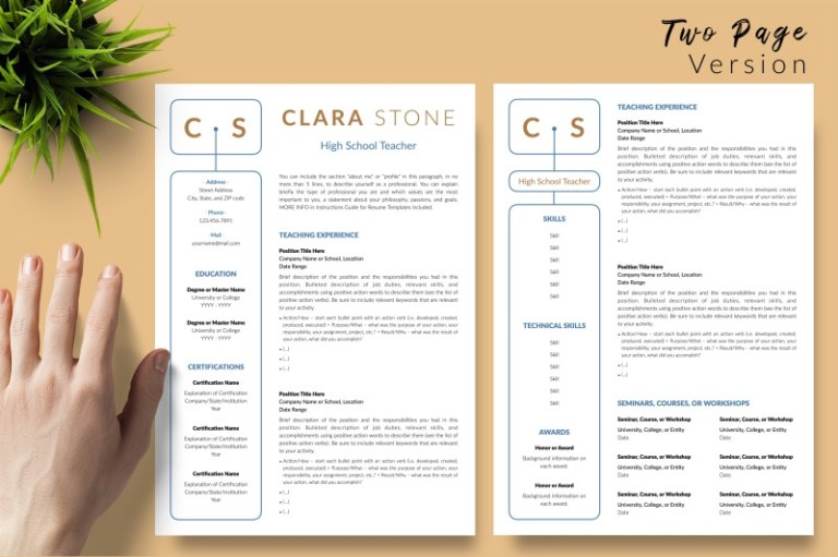 teacher resume template for microsoft word apple pages