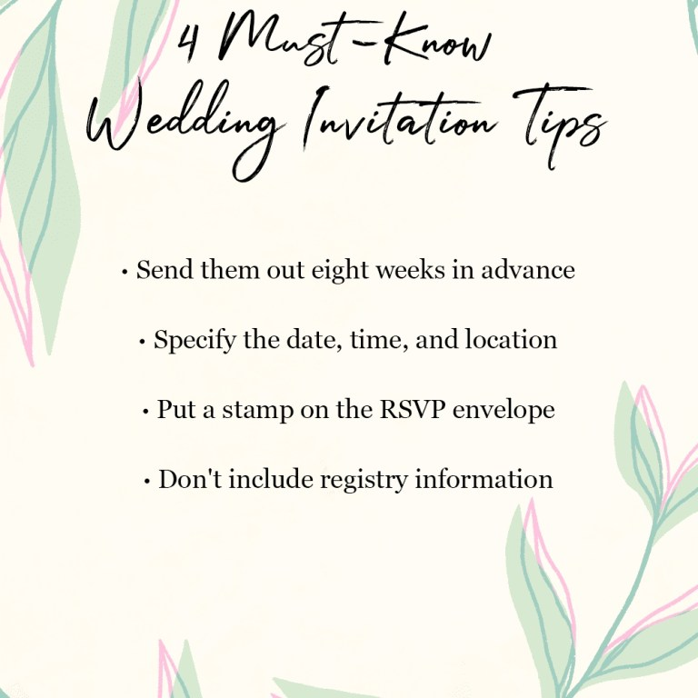 the top 8 wedding invitation etiquette mistakes according
