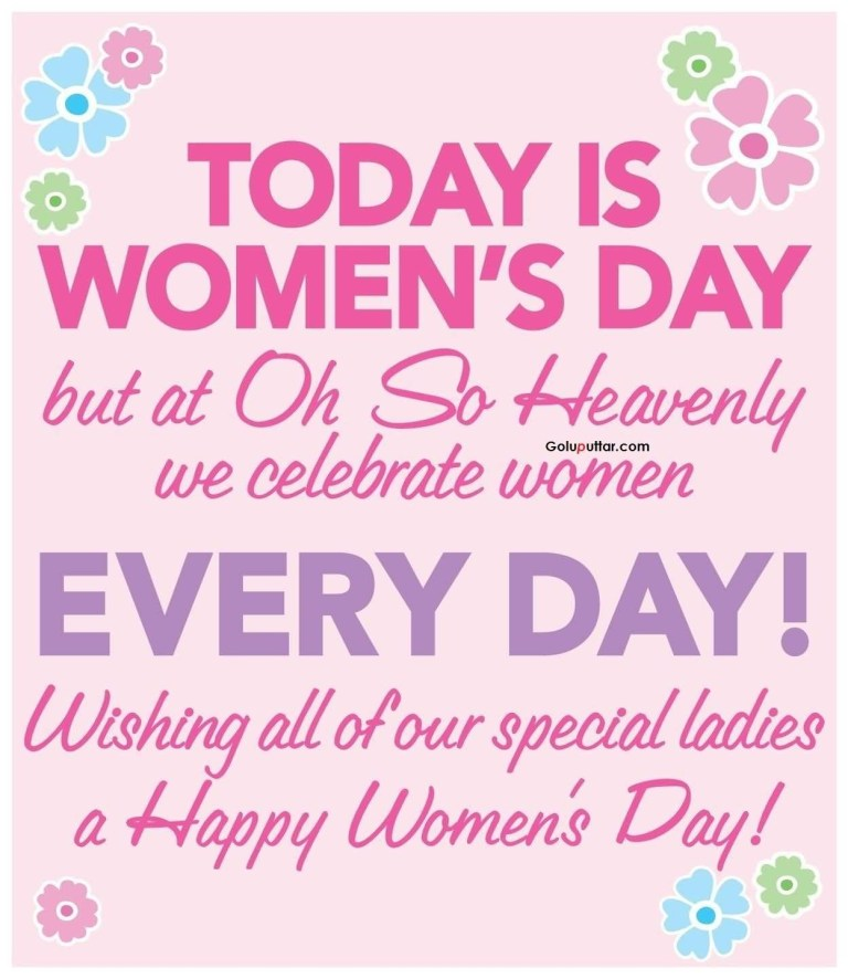 unique womens day quote special day for special girls