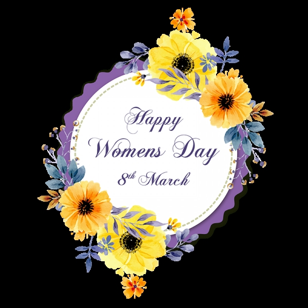 vng hoa chc mng ngy 8 3 womens day with floral