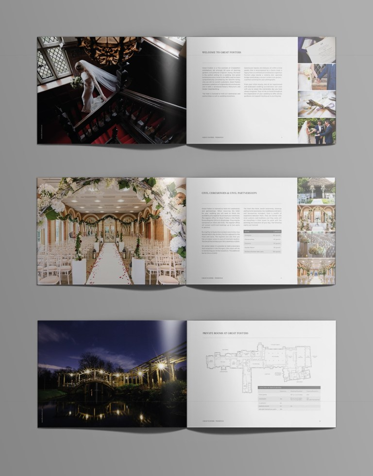 wedding brochure design for great fosters fuse design journal