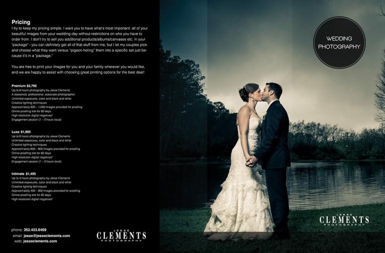 wedding photographer brochure on behance