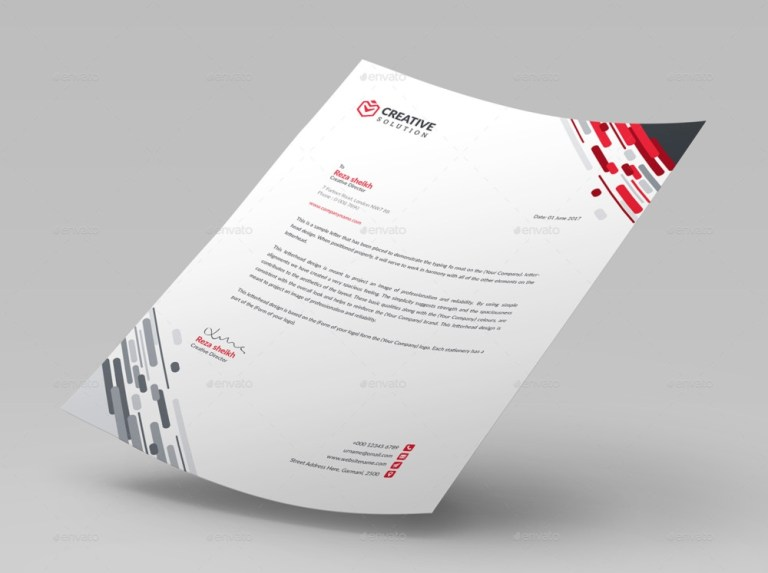 11 letterhead template psd word for business graphic cloud