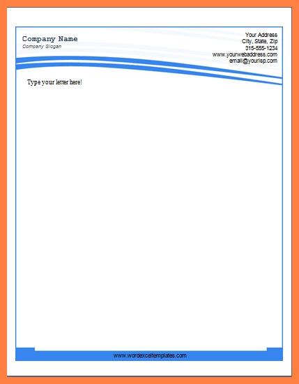 6 letterhead templates for word company letterhead