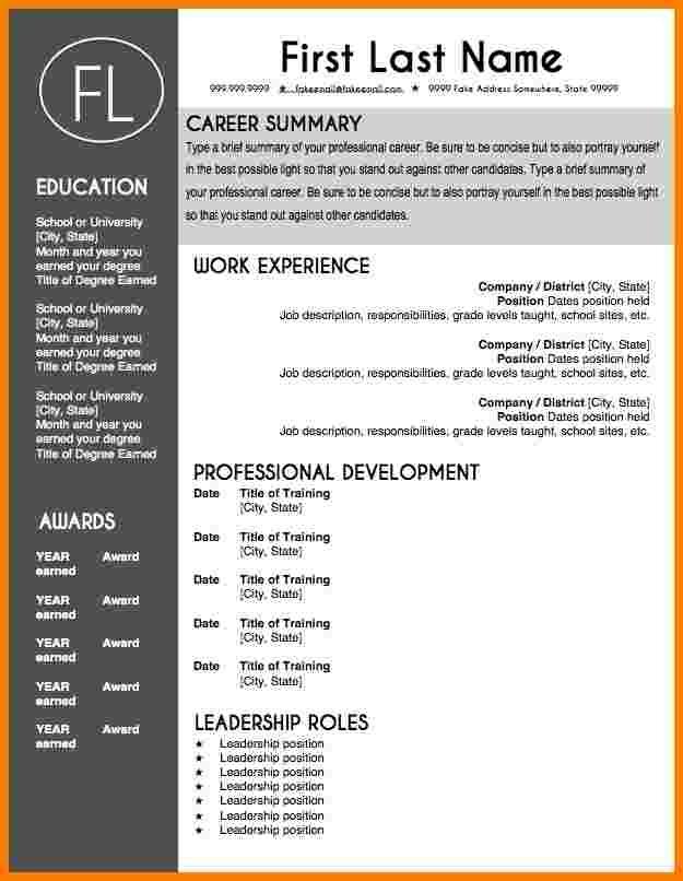 8 teacher resume template microsoft word professional