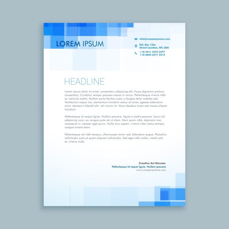abstract creative letterhead template vector design