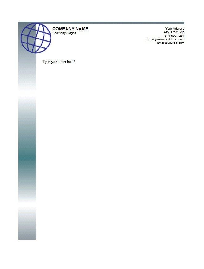 business letterhead example free printable letterhead