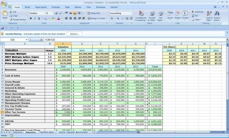business plan spreadsheet template akademiexcel