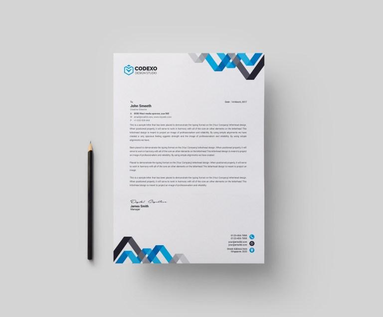 chevron professional corporate letterhead template 000902