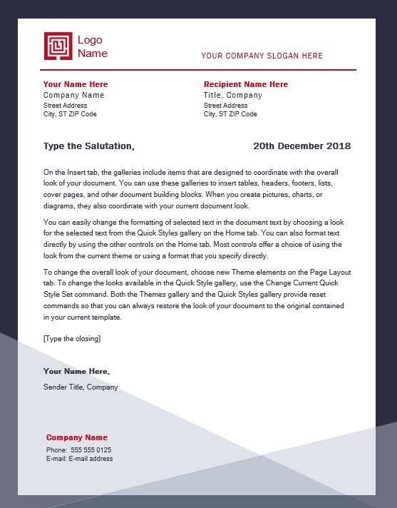 company letterhead template word free free printable