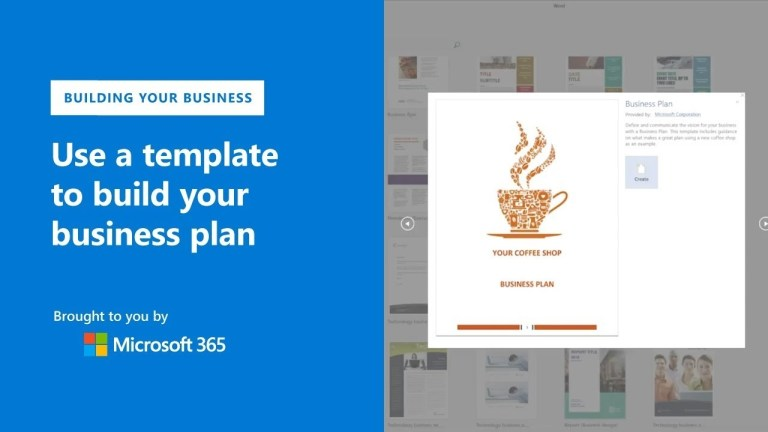 create your business plan with templates in microsoft word