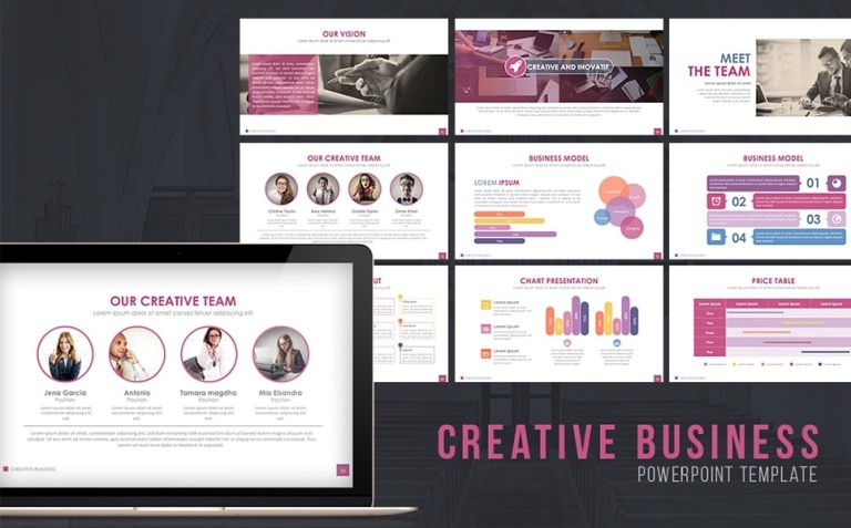 creative business powerpoint template 65128