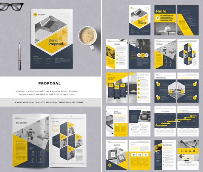 design business proposal simply and editable bisiayo1