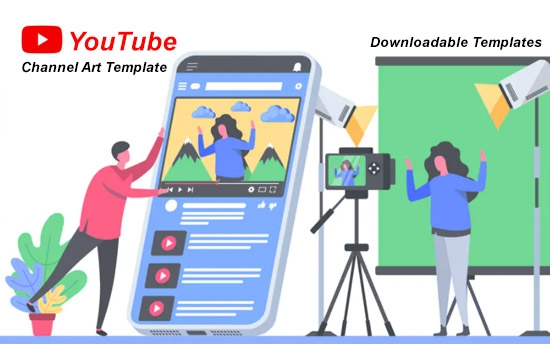 easy youtube channel art template for 2020 and beyond with