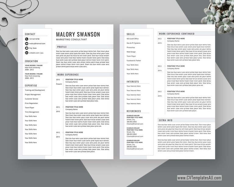 editable cv template for microsoft word cover letter