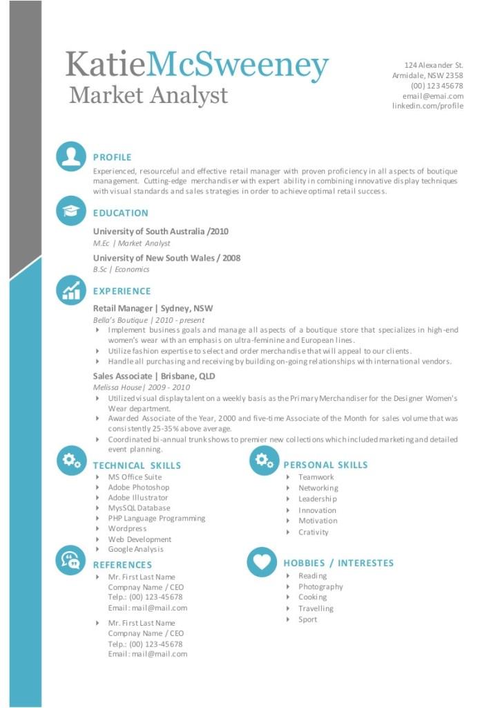 editable simple resume format in word