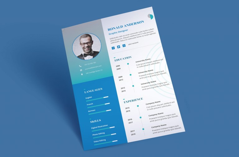 eye catching resume template word to download docdocx