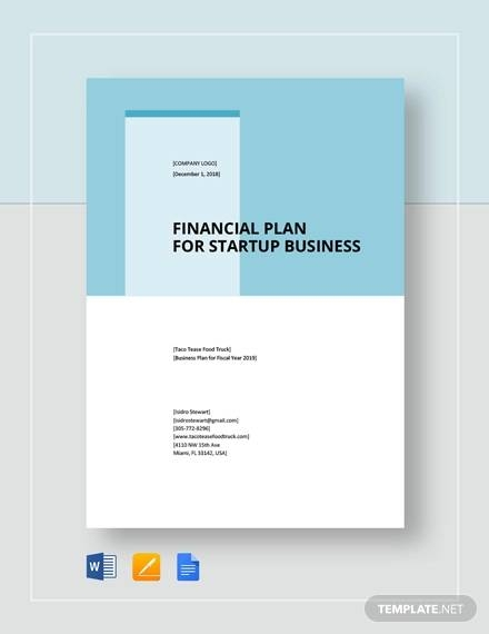 free 9 sample financial business plan templates in google