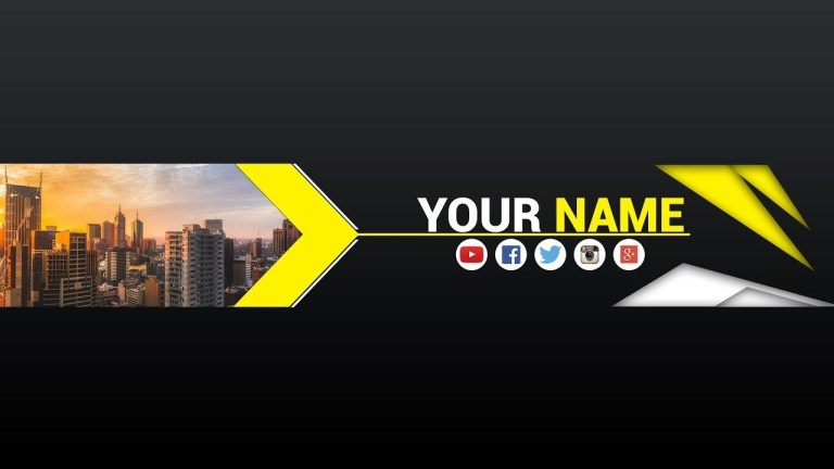 free banner template for youtube channel 8 photoshop i