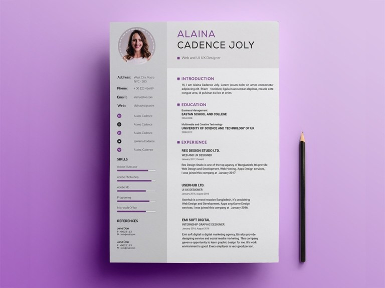 free clean professional resume template julian ma on