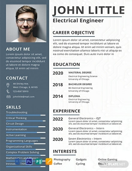 free electrical engineer fresher resume template word