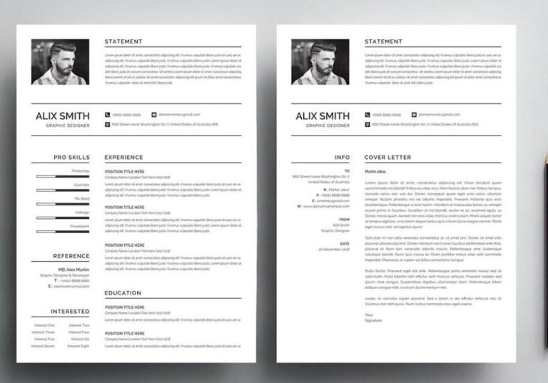 free simple resume template word psd 2020 maxresumes