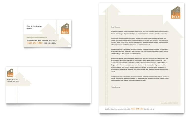home building carpentry business card letterhead
