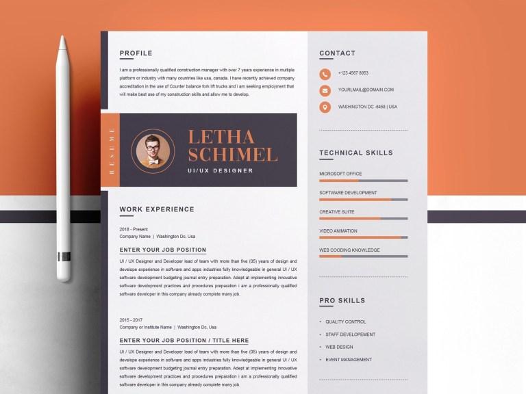 modern clean resume cv template resume templates on