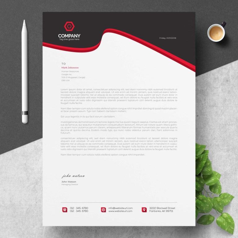 modern company letterhead download free vectors clipart