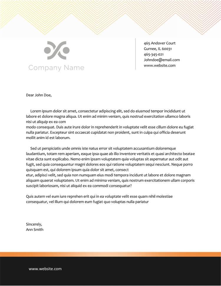 official letterhead letter