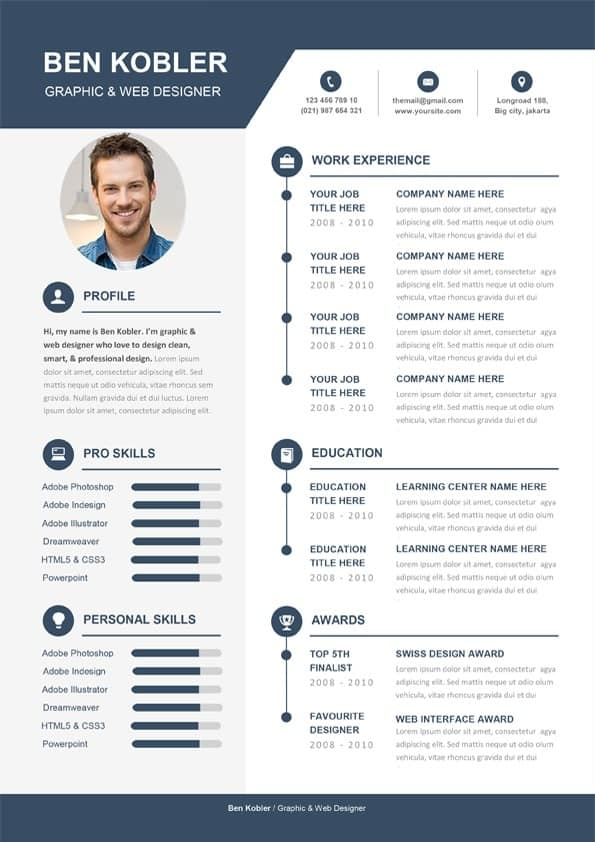 professional creative cv template download for word