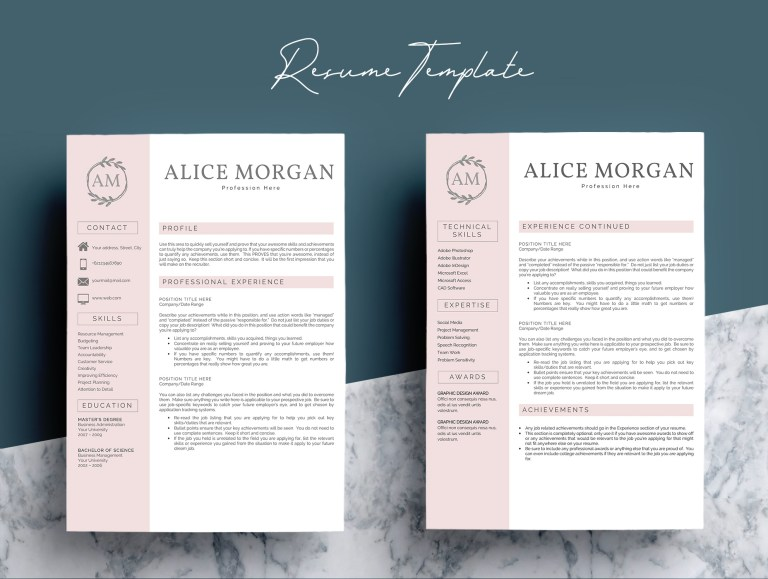 professional creative resume template alice morgan