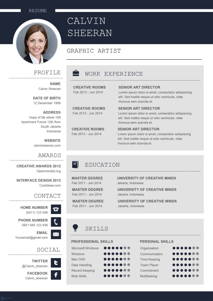 professional cv ms word template editable downloadable