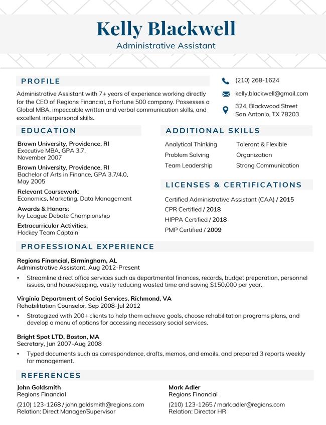professional resume templates free microsoft word