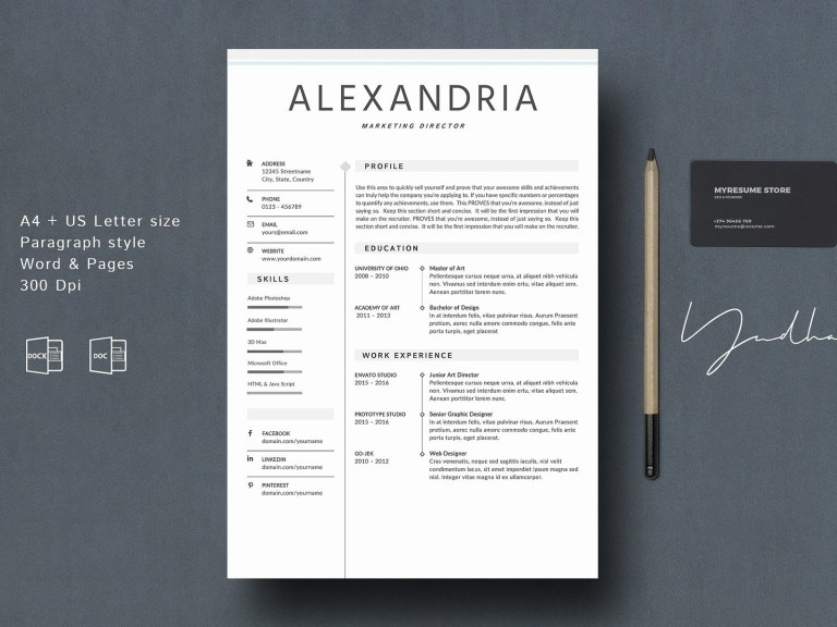 resume template creative cv resume templates on dribbble