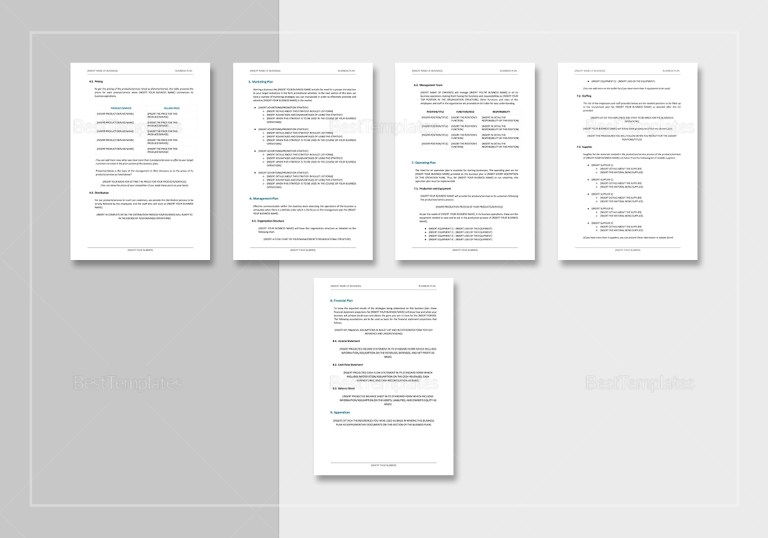 simple business plan template in word google docs apple