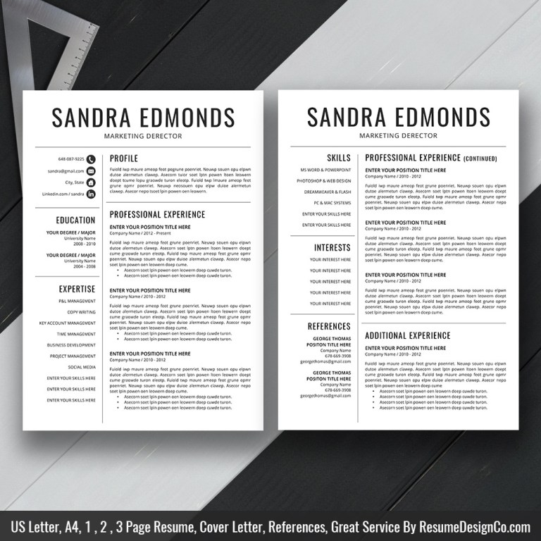 simple resume cv template for ms word clean resume