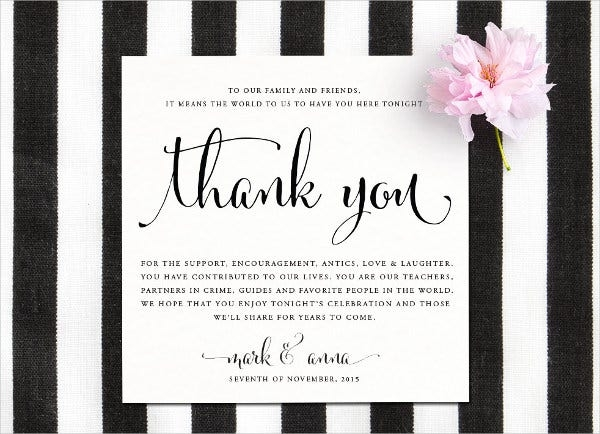 thank you card templates free sample example format